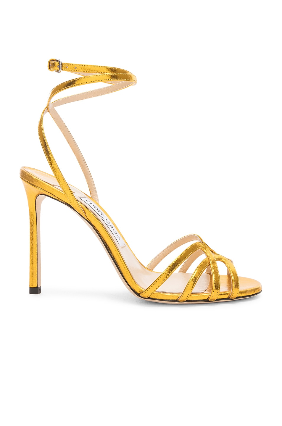 Image 1 of Jimmy Choo Leather Mimi 100 Sandal in Saffron