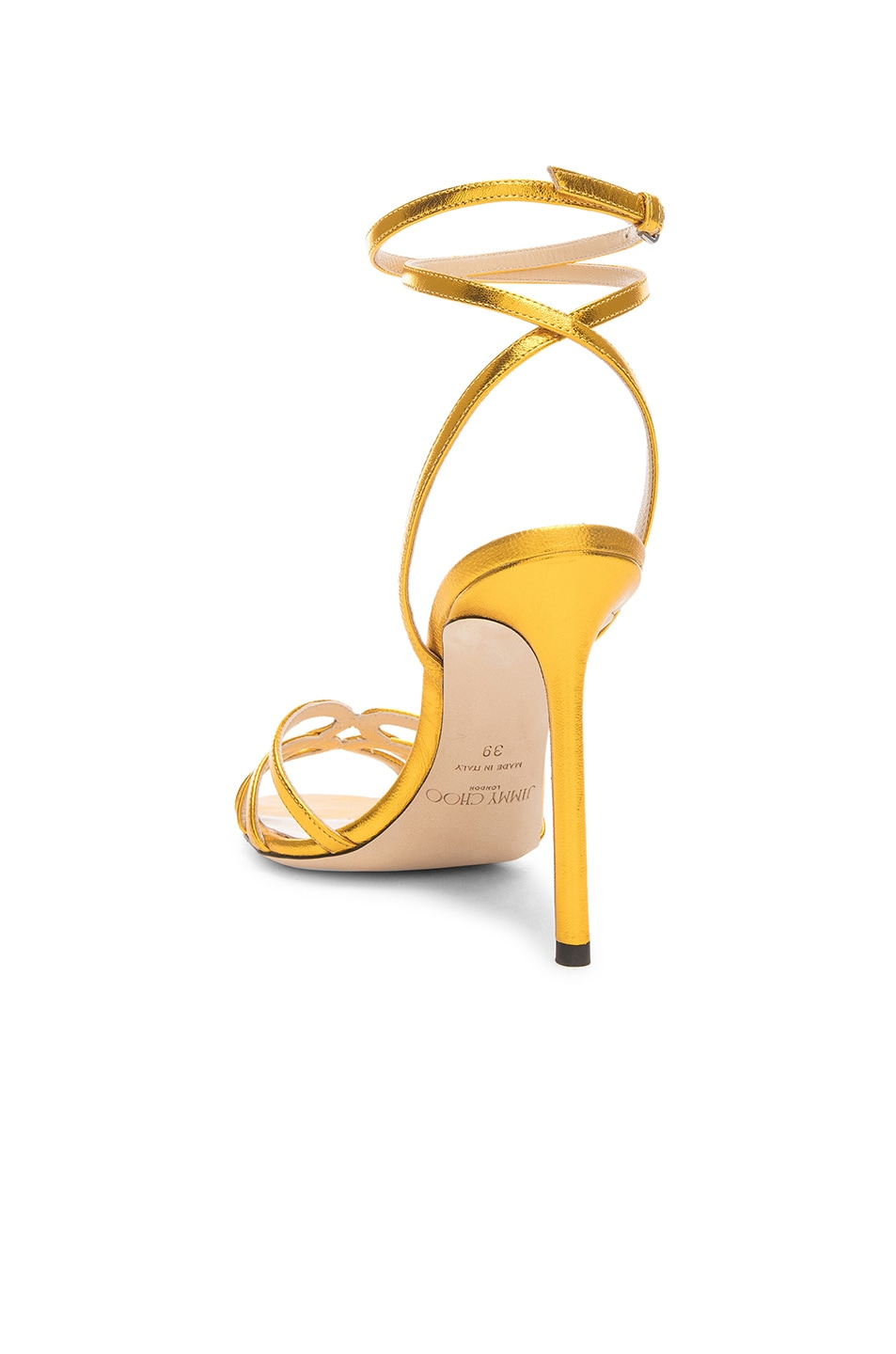 Image 3 of Jimmy Choo Leather Mimi 100 Sandal in Saffron