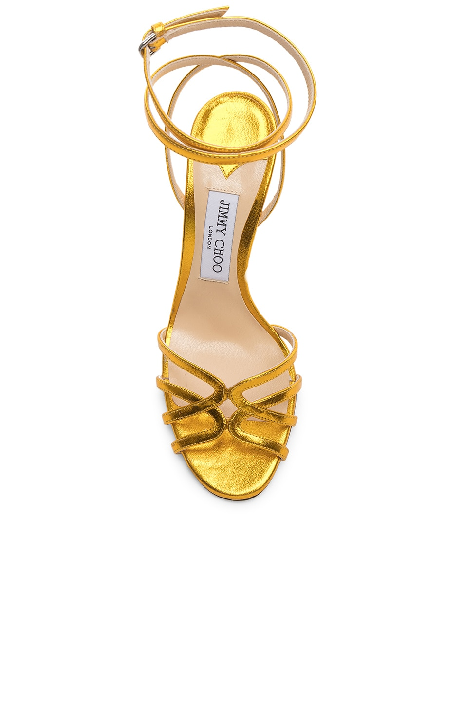 Image 4 of Jimmy Choo Leather Mimi 100 Sandal in Saffron