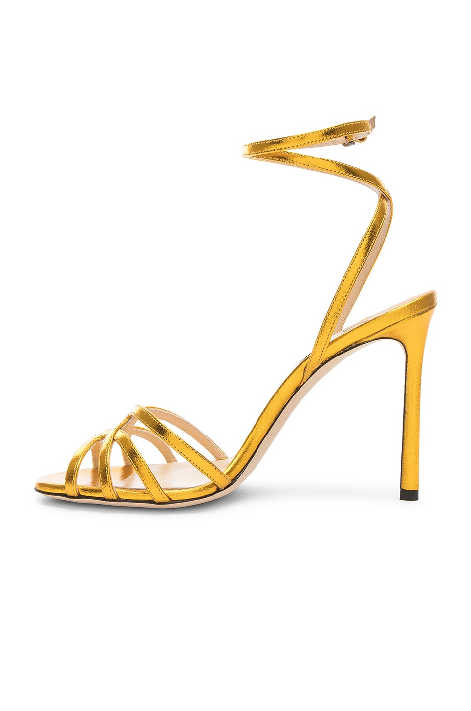 Image 5 of Jimmy Choo Leather Mimi 100 Sandal in Saffron