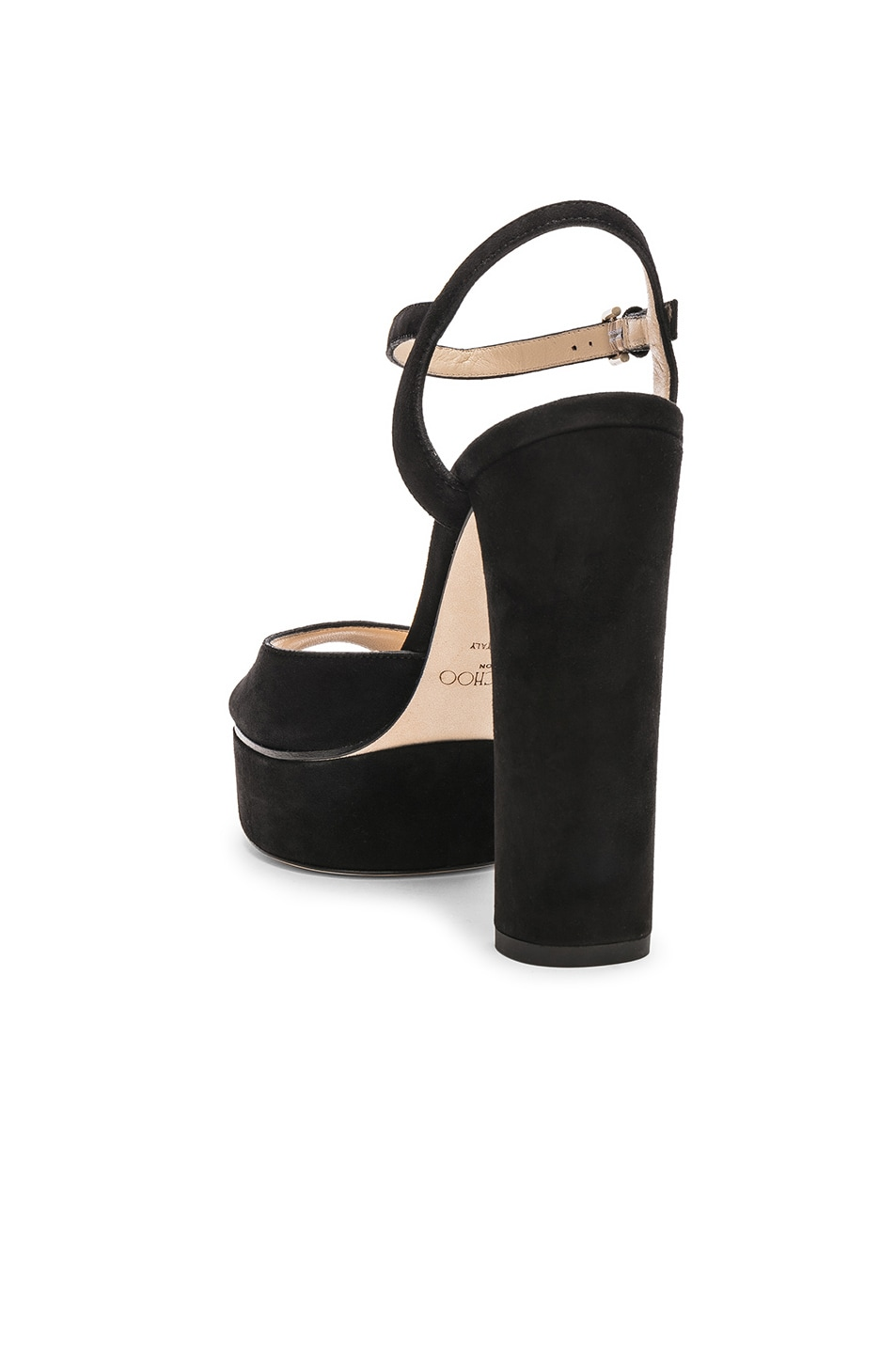 Image 3 of Jimmy Choo Peachy 125 Suede Platform in Black