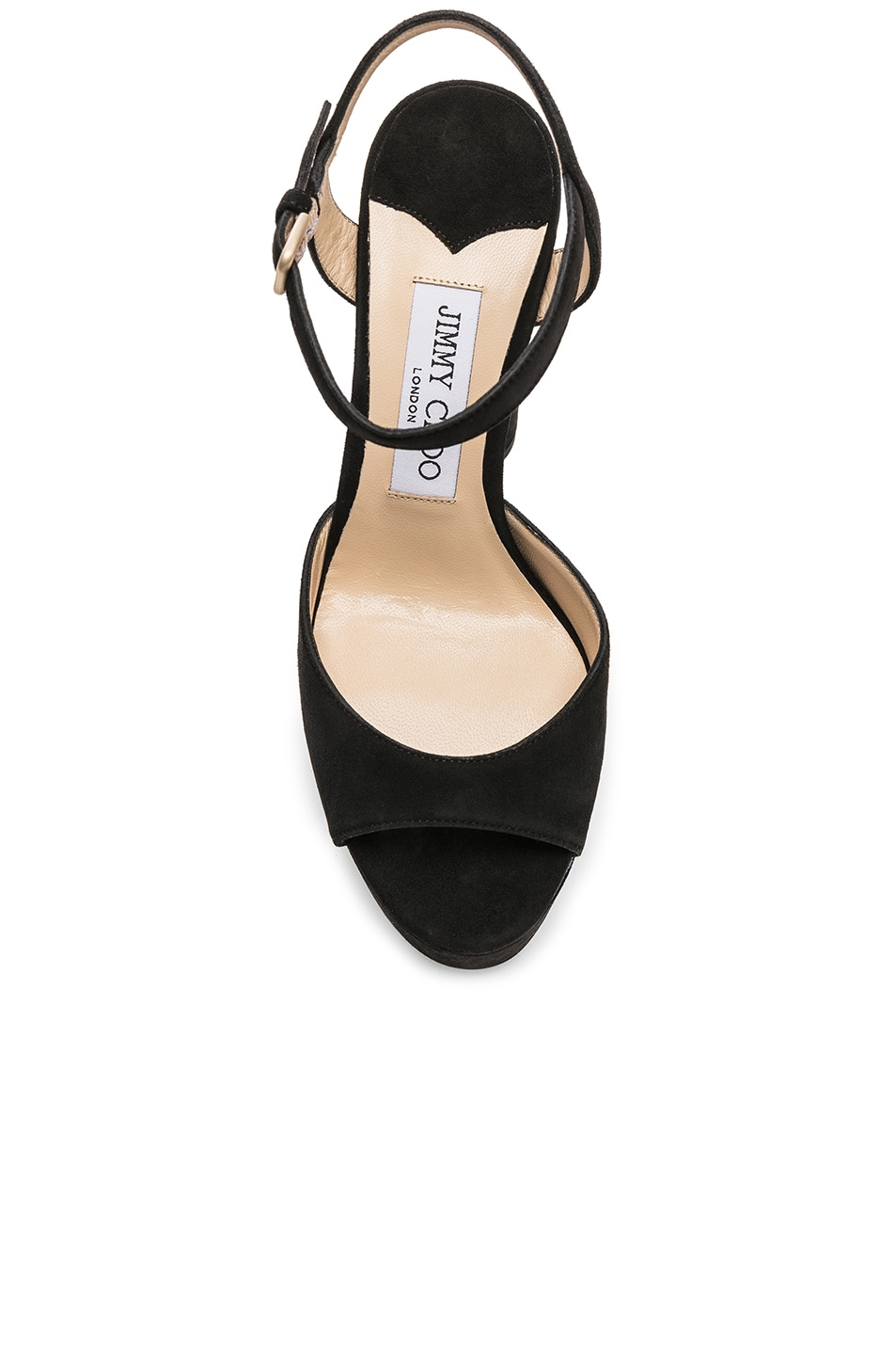 Image 4 of Jimmy Choo Peachy 125 Suede Platform in Black