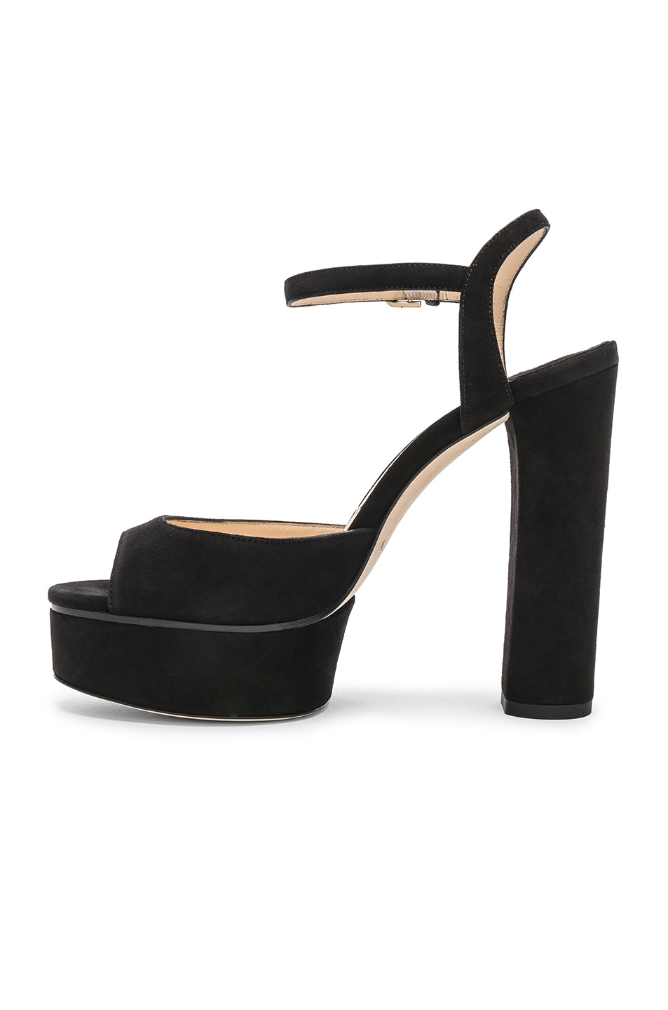 Image 5 of Jimmy Choo Peachy 125 Suede Platform in Black