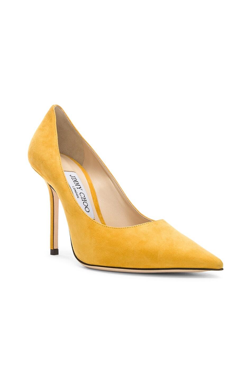 Image 2 of Jimmy Choo Love 100 Suede Heel in Saffron