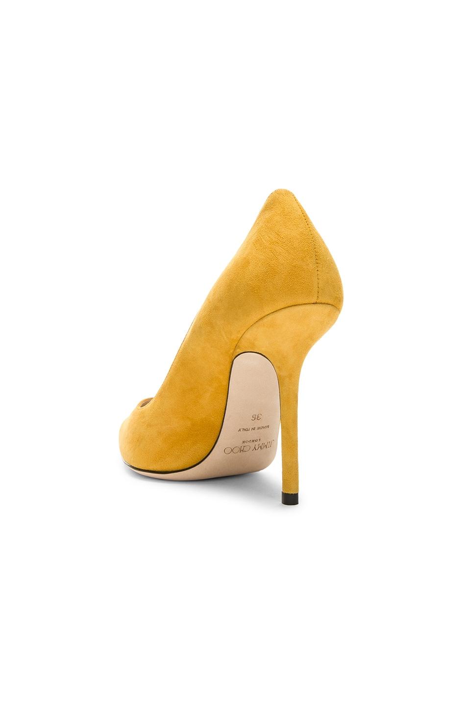 Image 3 of Jimmy Choo Love 100 Suede Heel in Saffron