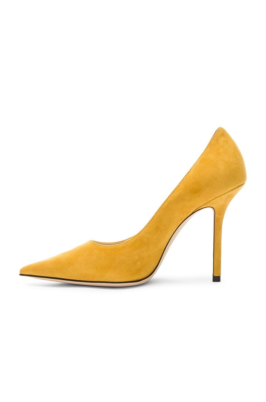 Image 5 of Jimmy Choo Love 100 Suede Heel in Saffron