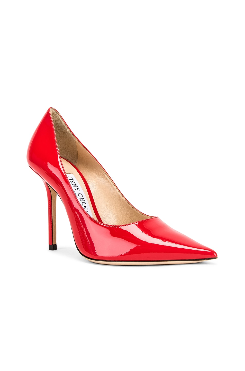 Image 2 of Jimmy Choo Love 100 Patent Leather Heel in Chilli