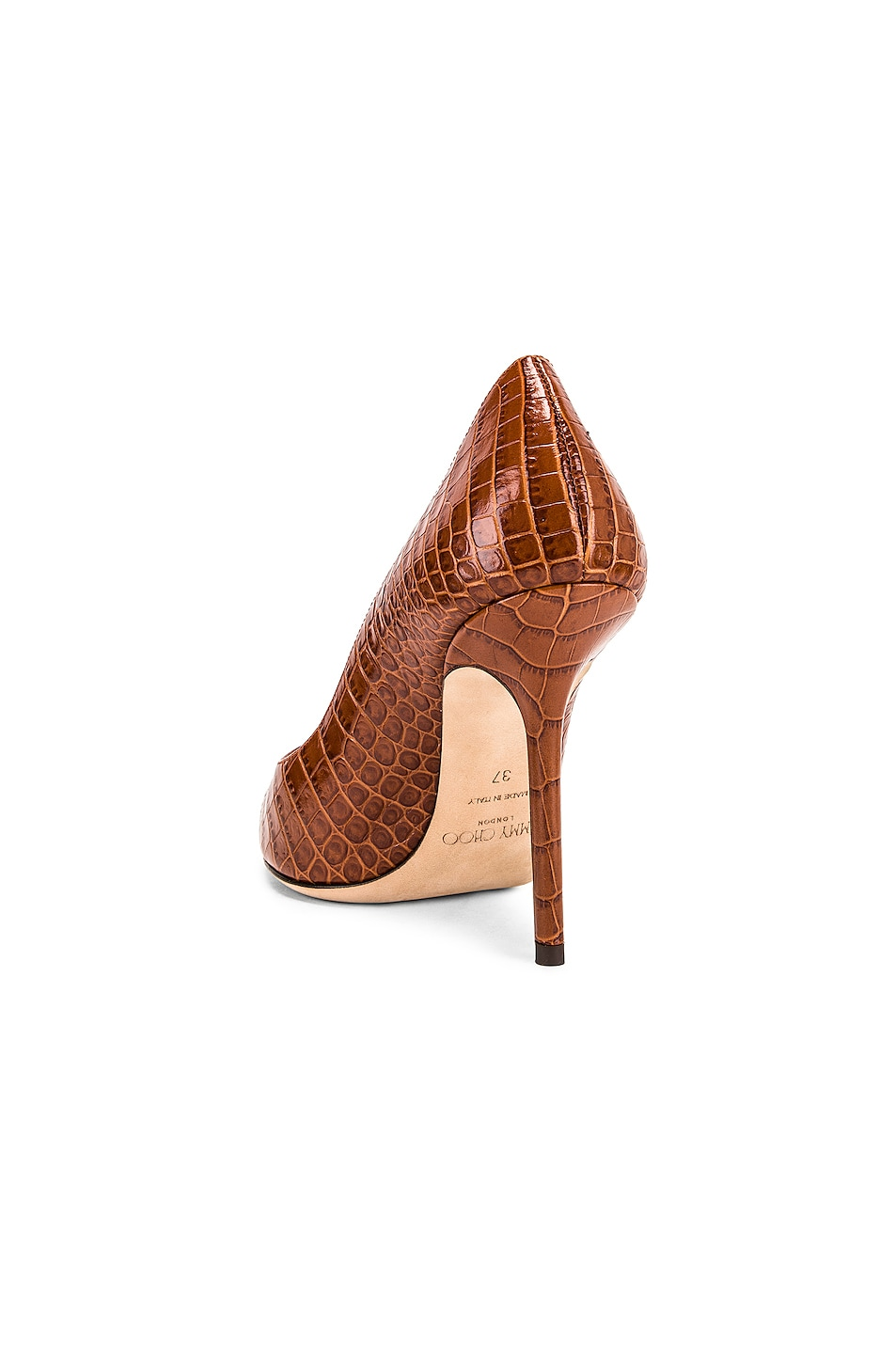 Image 3 of Jimmy Choo Croc Embossed Love 100 Heel in Cuoio