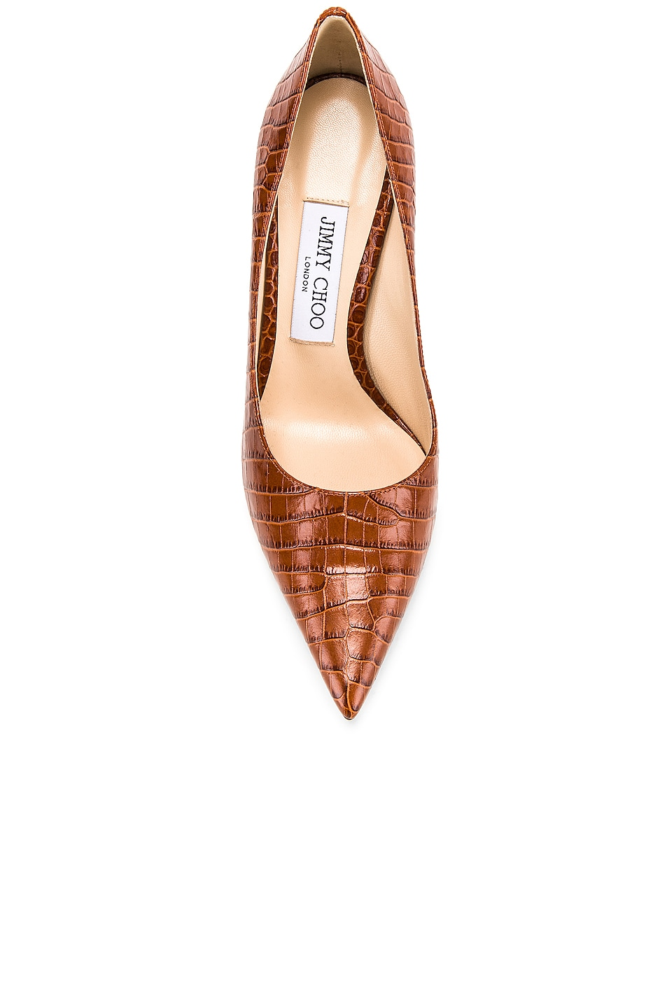Image 4 of Jimmy Choo Croc Embossed Love 100 Heel in Cuoio