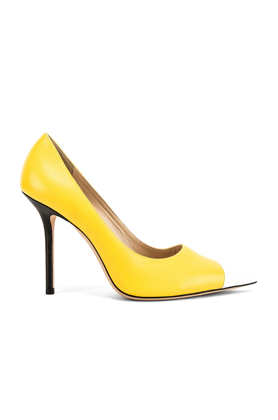 Image 2 of Jimmy Choo Love 100 Heel in Black, White & Fluo Yellow