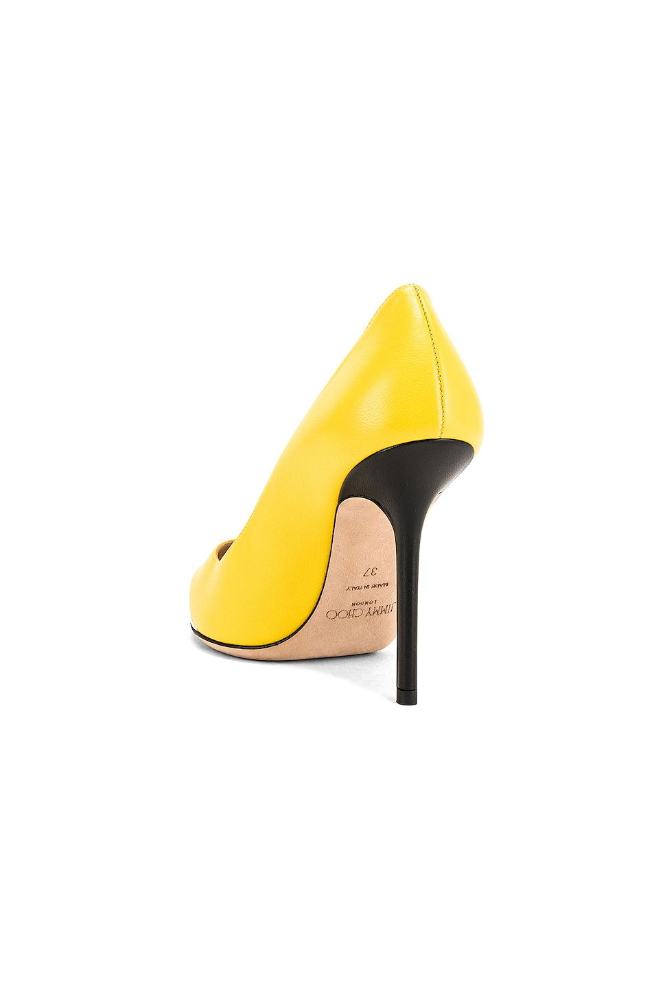 Image 4 of Jimmy Choo Love 100 Heel in Black, White & Fluo Yellow