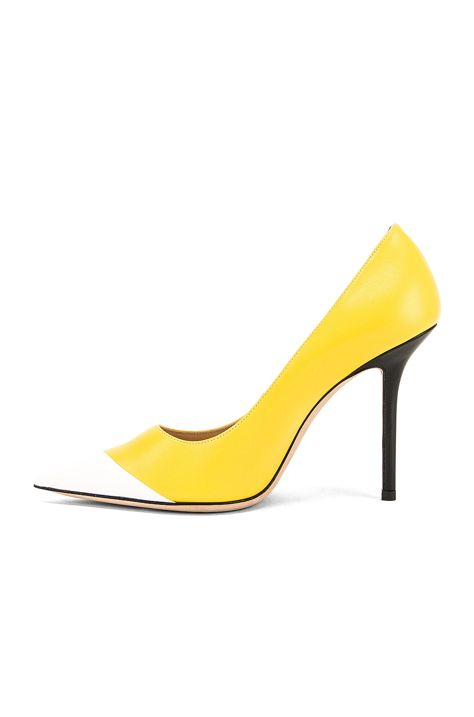 Image 5 of Jimmy Choo Love 100 Heel in Black, White & Fluo Yellow