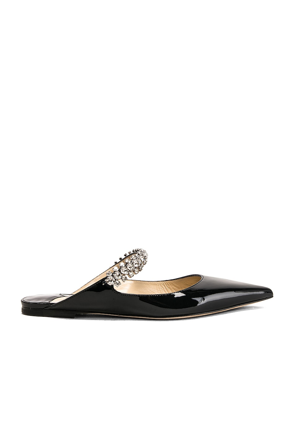 Image 1 of Jimmy Choo Patent Leather Bing Flat in Black