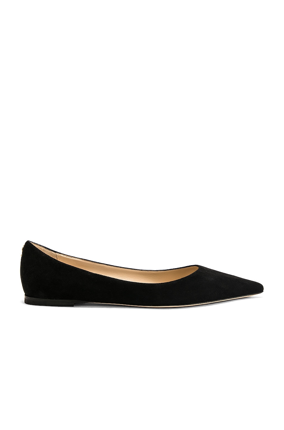 Image 1 of Jimmy Choo Suede Love Flat in Black