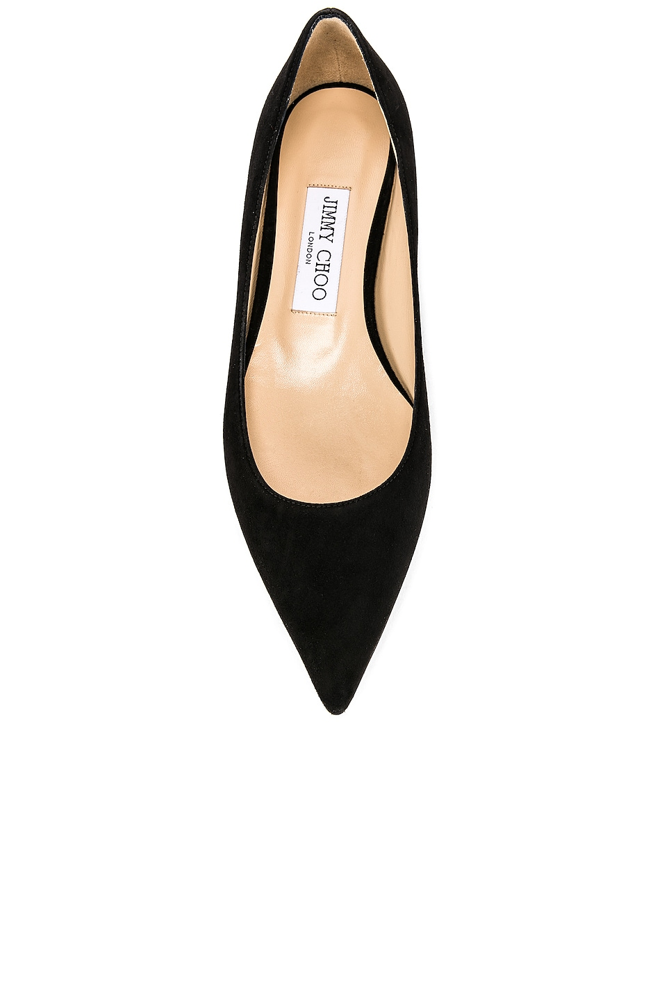 Image 4 of Jimmy Choo Suede Love Flat in Black