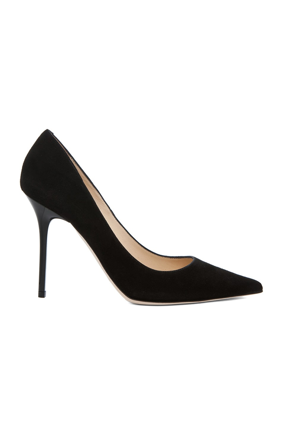 Image 1 of Jimmy Choo Abel Pointed Suede Pumps in Black