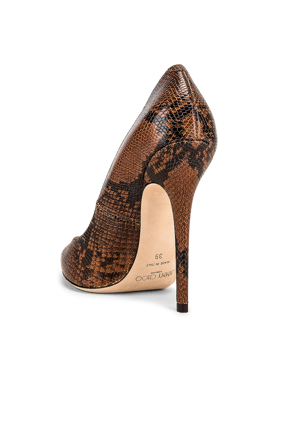 Image 3 of Jimmy Choo Snake Print Anouk 120 Heel in Cuoio