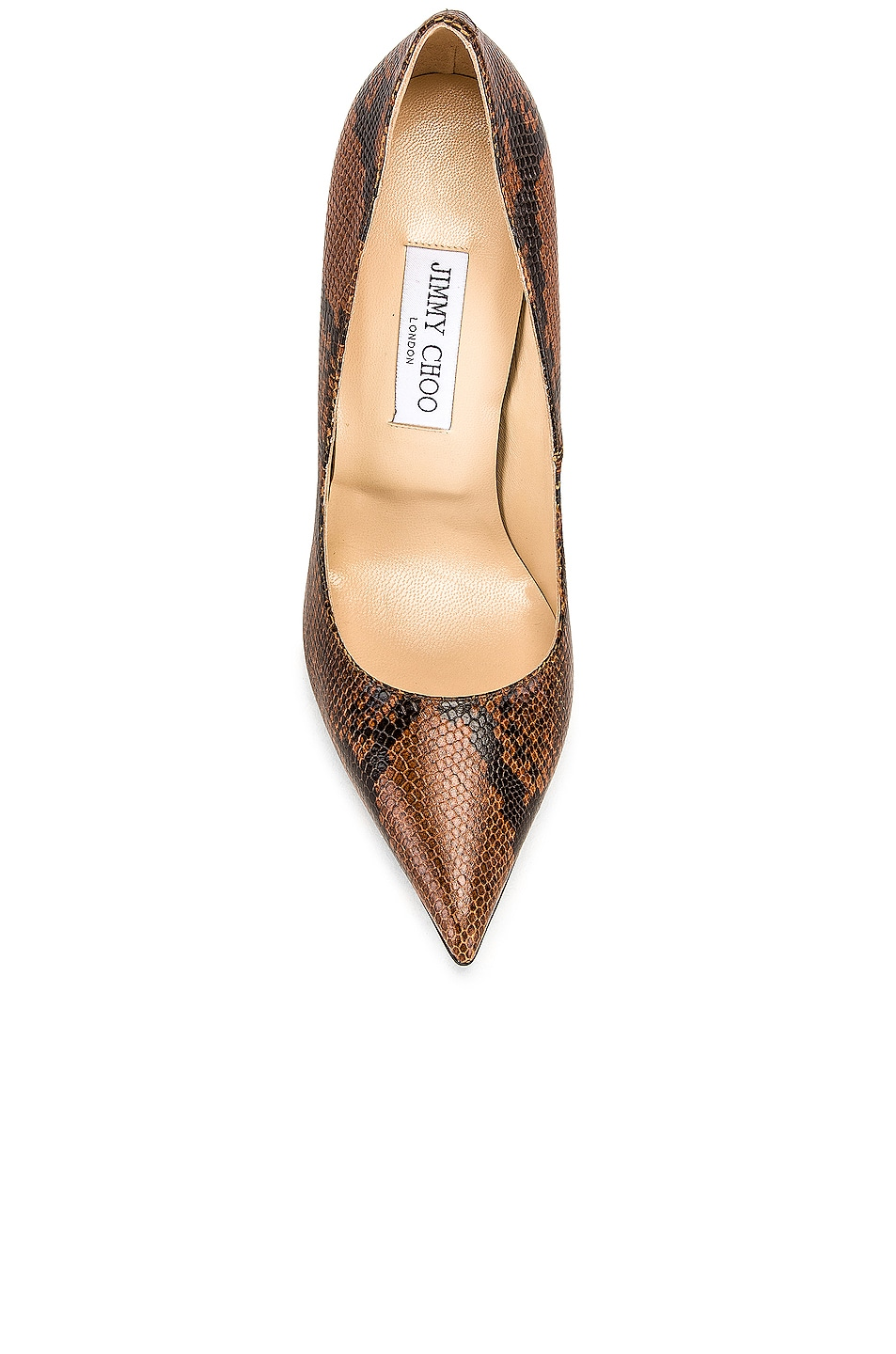 Image 4 of Jimmy Choo Snake Print Anouk 120 Heel in Cuoio