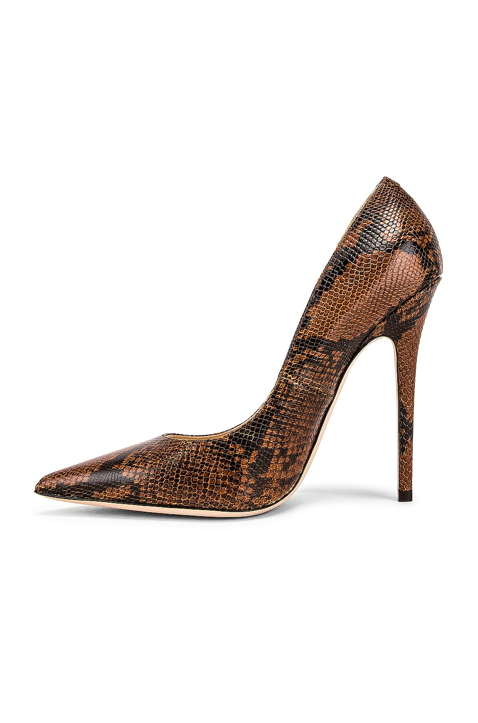 Image 5 of Jimmy Choo Snake Print Anouk 120 Heel in Cuoio