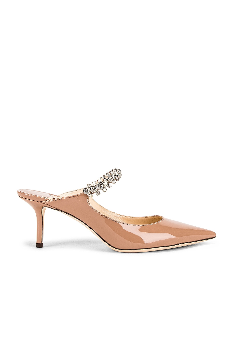 Image 1 of Jimmy Choo Patent Leather Bing 65 Heel in Ballet Pink