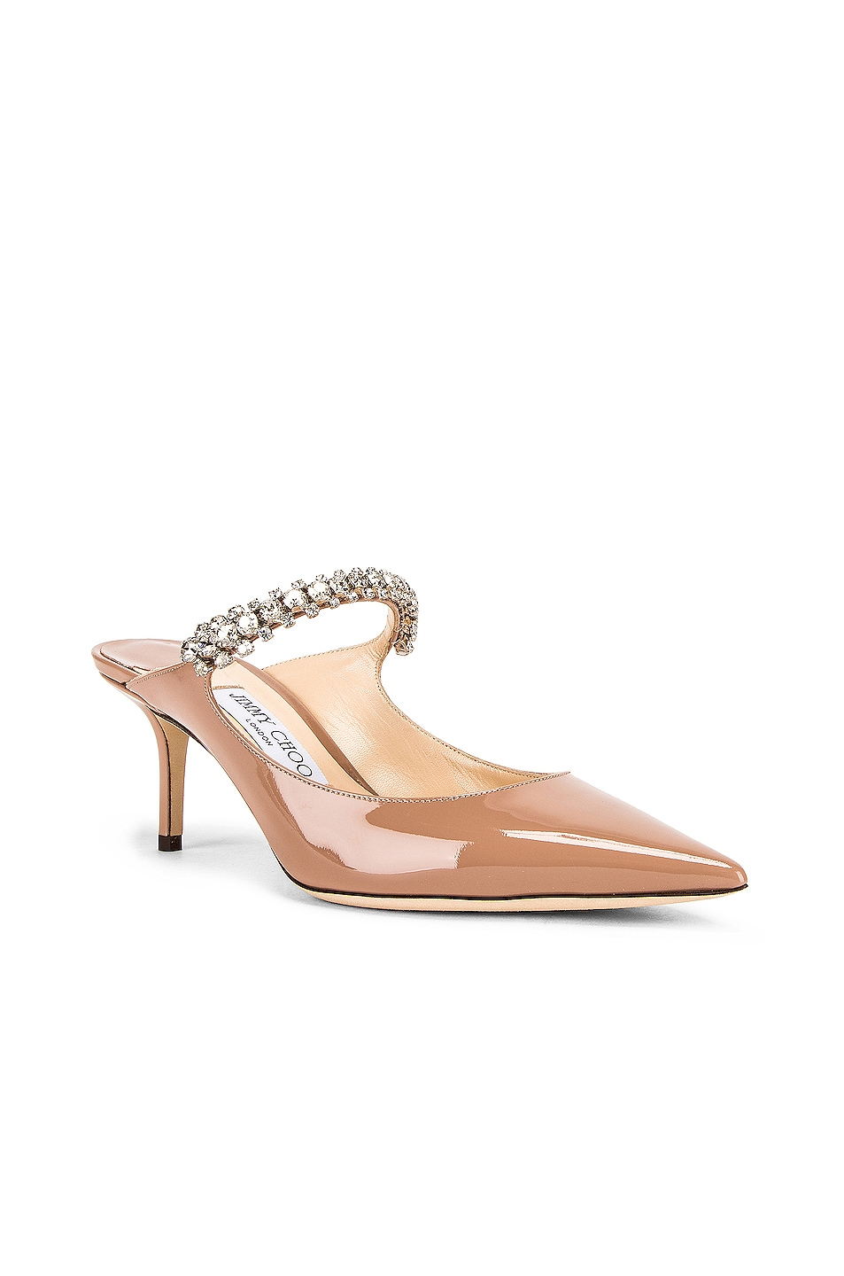 Image 2 of Jimmy Choo Patent Leather Bing 65 Heel in Ballet Pink