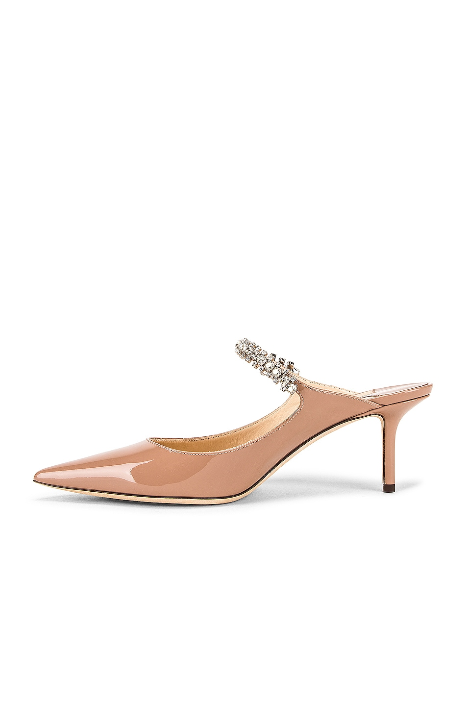 Image 5 of Jimmy Choo Patent Leather Bing 65 Heel in Ballet Pink