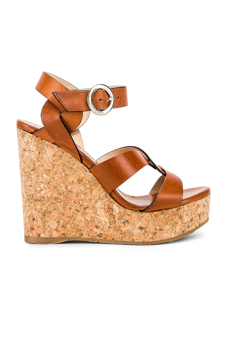 Image 1 of Jimmy Choo Aleili Wedge Heel in Cuoio