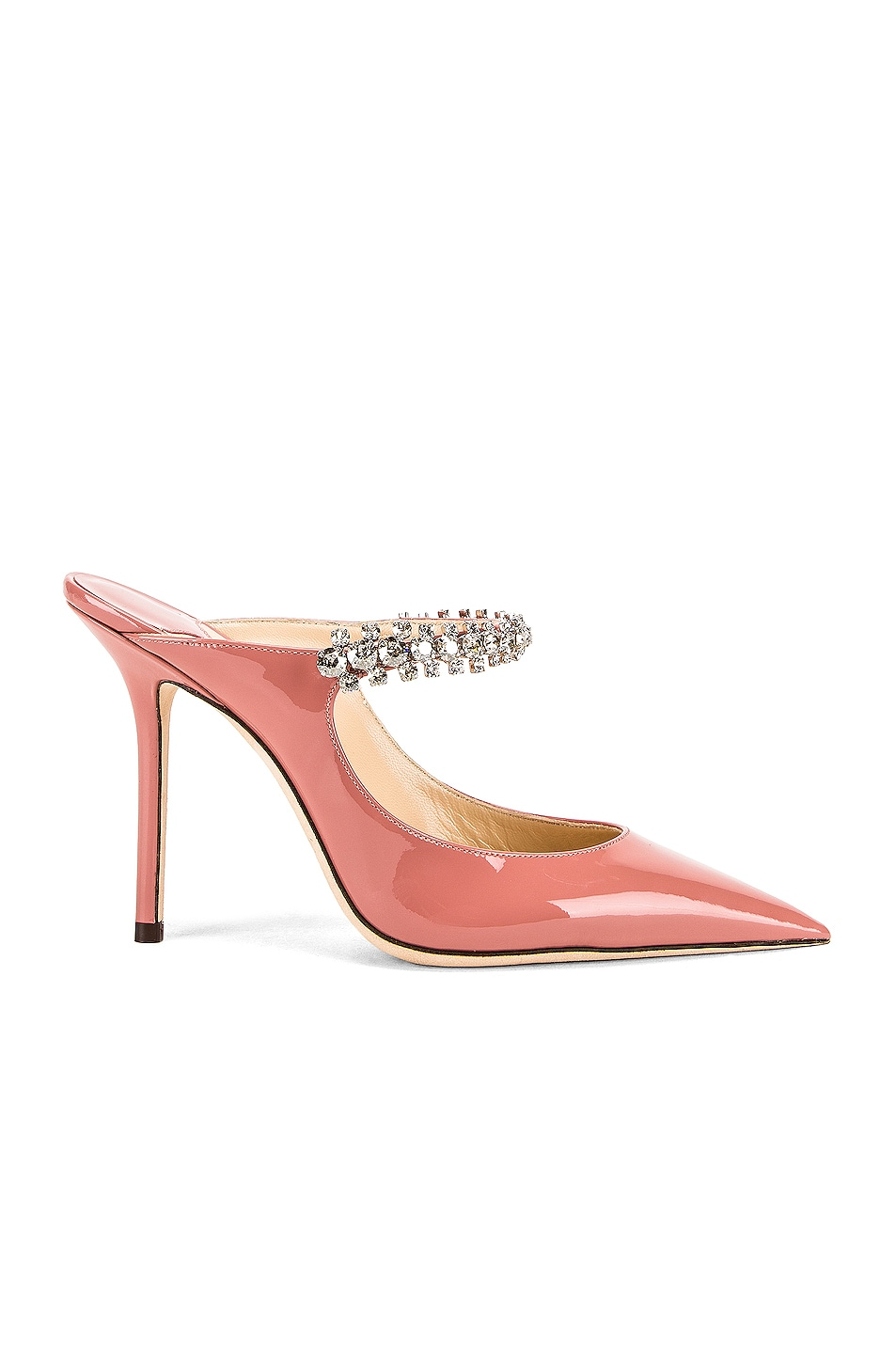 Image 1 of Jimmy Choo Bing 100 Patent Leather Mule in Blush