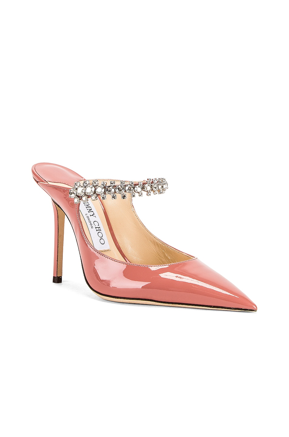 Image 2 of Jimmy Choo Bing 100 Patent Leather Mule in Blush