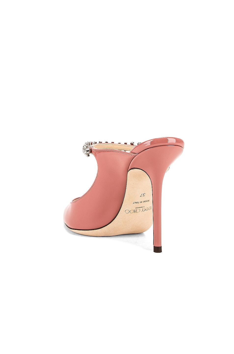 Image 3 of Jimmy Choo Bing 100 Patent Leather Mule in Blush