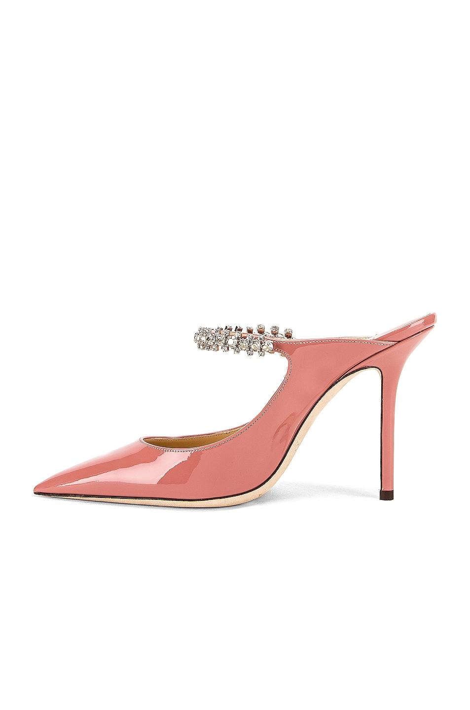 Image 5 of Jimmy Choo Bing 100 Patent Leather Mule in Blush