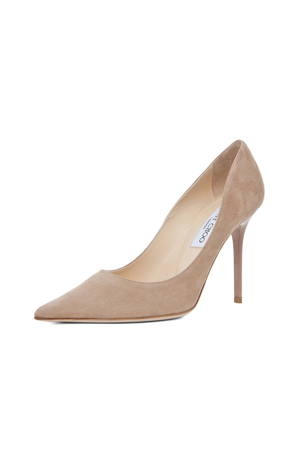 Image 2 of Jimmy Choo Abel Suede Pumps in Nude