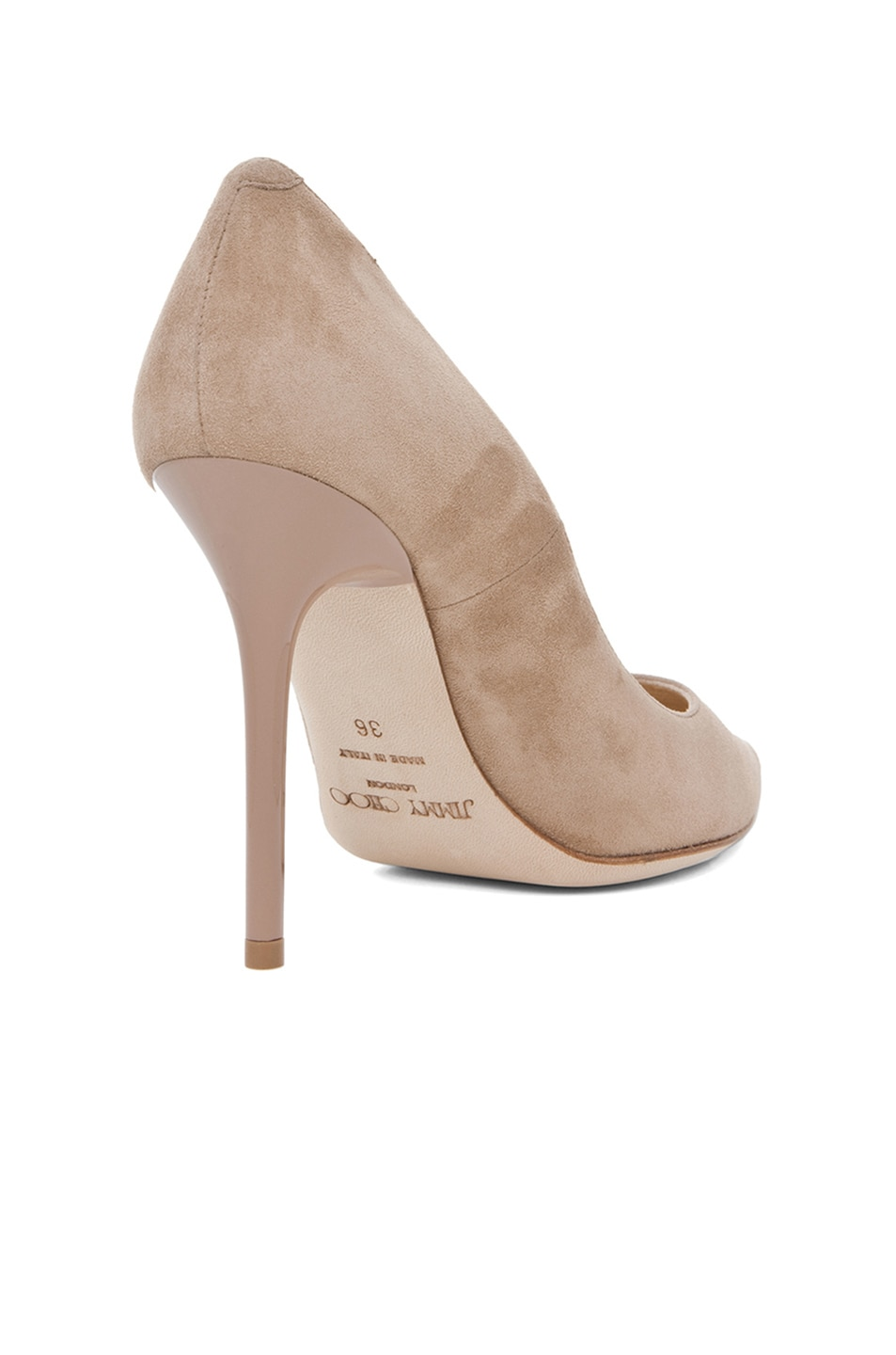 Image 3 of Jimmy Choo Abel Suede Pumps in Nude
