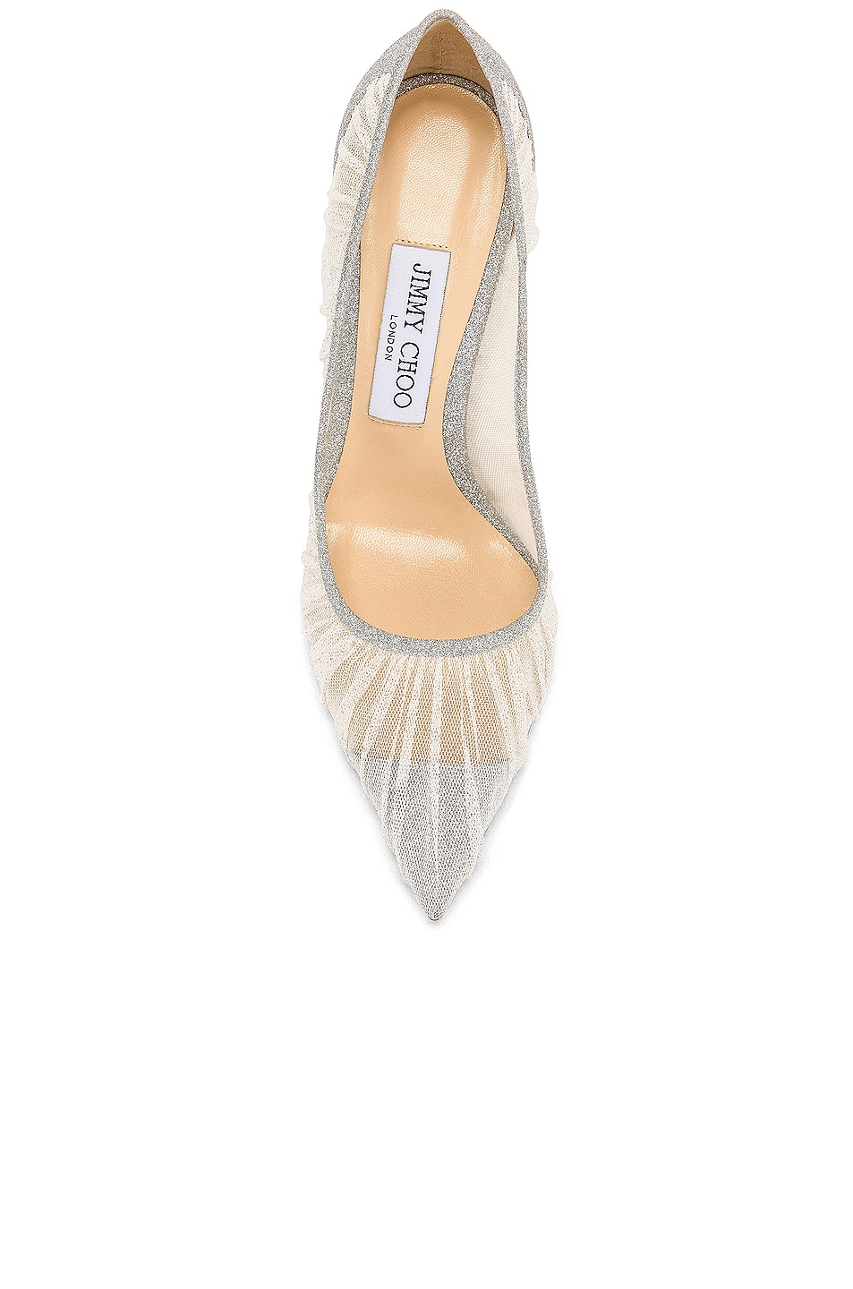 Image 4 of Jimmy Choo Love 100 Fine Glitter Heel in Ivory & Silver