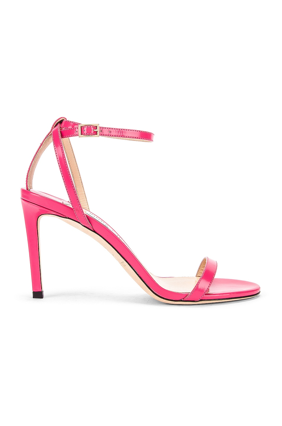 Image 1 of Jimmy Choo Minny 85 Liquid Leather Sandal in Bubble
