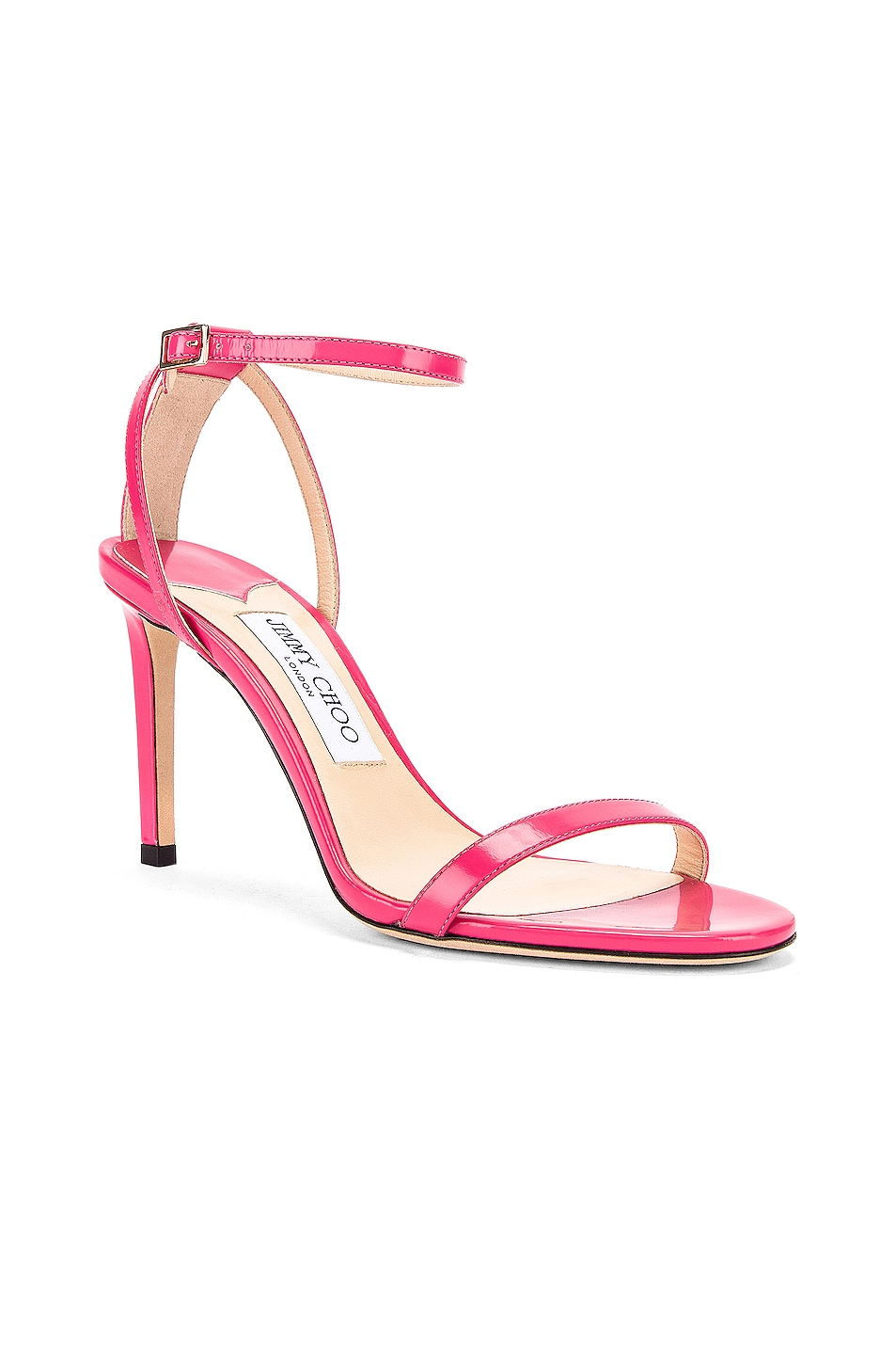 Image 2 of Jimmy Choo Minny 85 Liquid Leather Sandal in Bubble