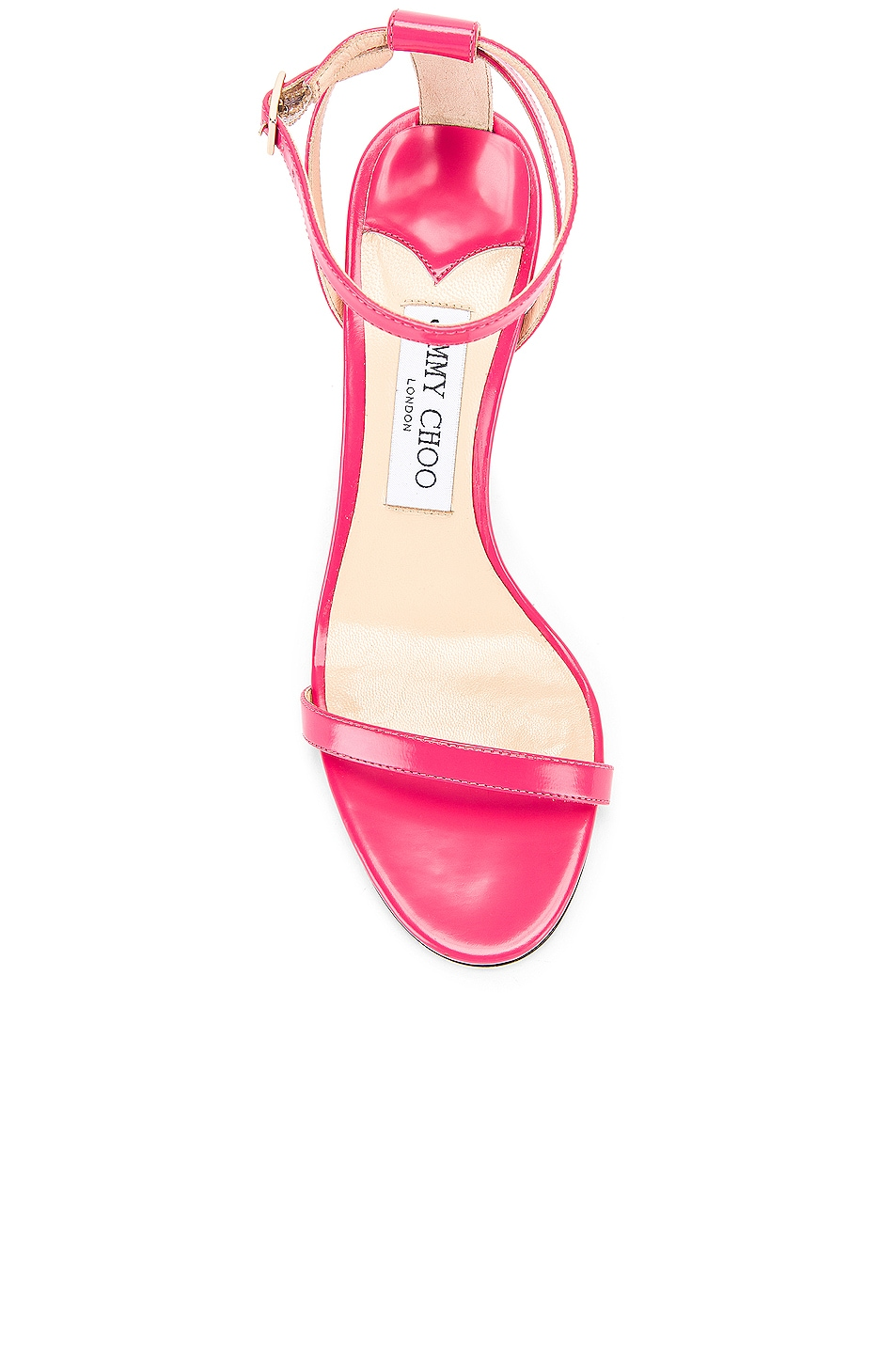 Image 4 of Jimmy Choo Minny 85 Liquid Leather Sandal in Bubble