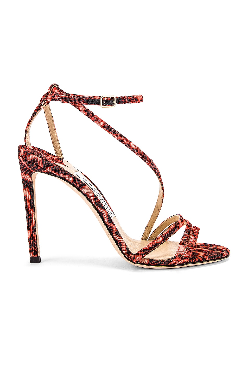 Image 1 of Jimmy Choo Tesca 100 Sandal in Mandarin Red Mix