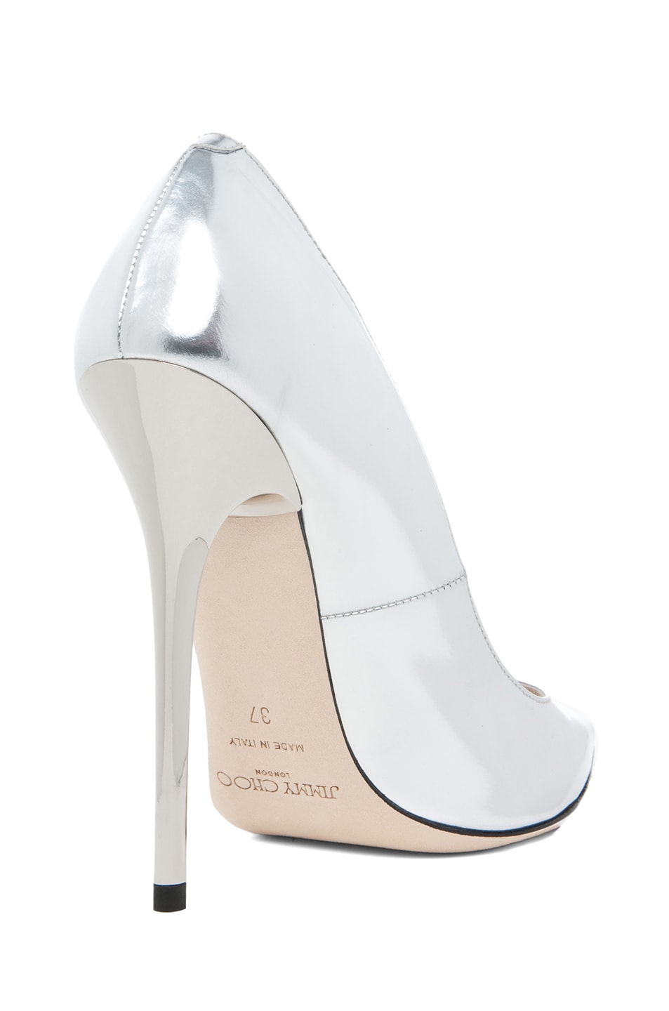 Image 3 of Jimmy Choo Anouk Heel in Silver