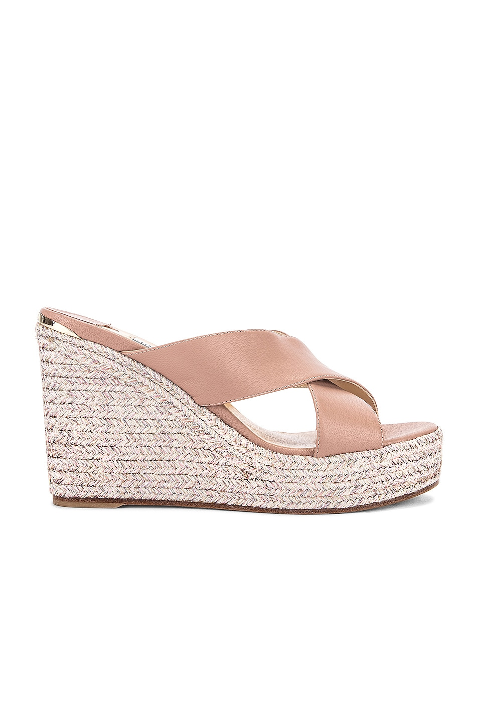 Image 1 of Jimmy Choo Dovina 100 Wedge in Ballet Pink