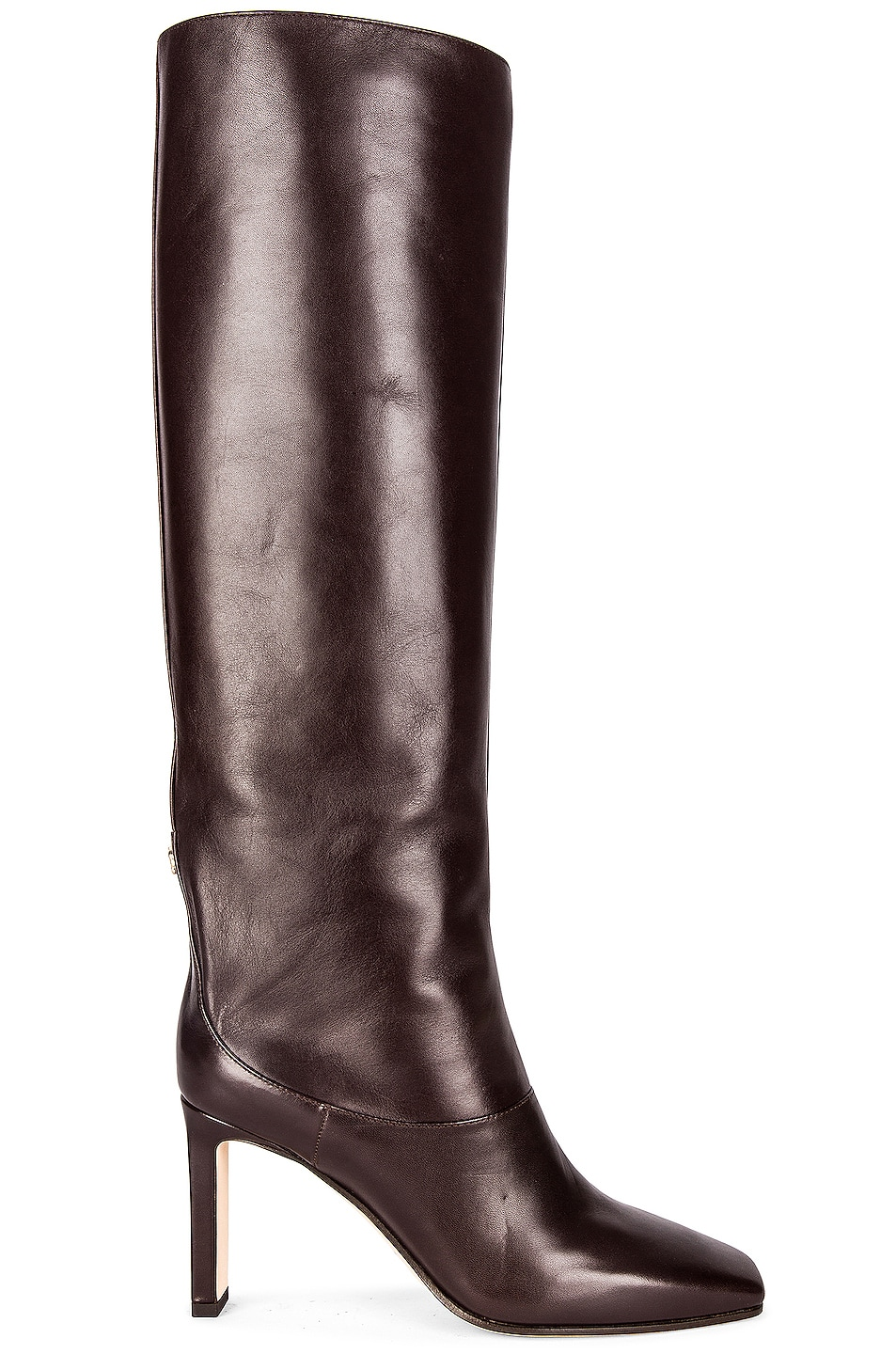Image 1 of Jimmy Choo Mahesa 85 Shiny Leather Boot in Brown