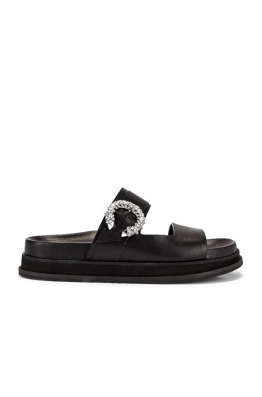 Image 1 of Jimmy Choo Marga Sandal in Black & Crystal