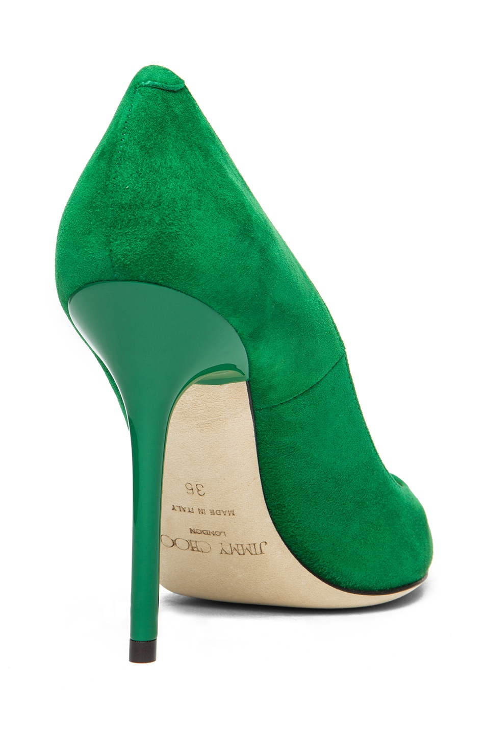 66b507e76 Image 3 of Jimmy Choo Abel Suede Pointed Pump in Emerald