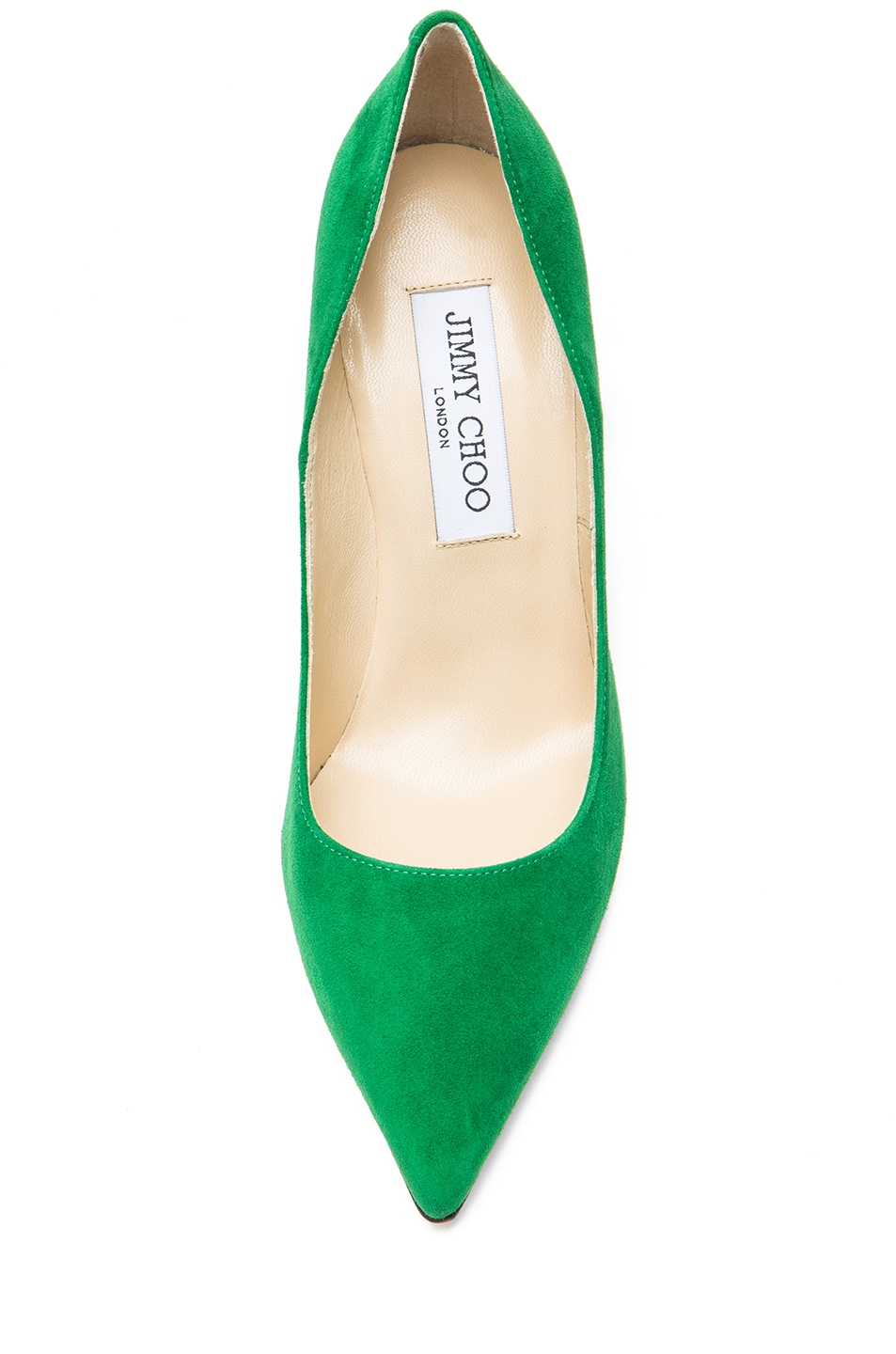 45b443140d1 Image 4 of Jimmy Choo Abel Suede Pointed Pump in Emerald