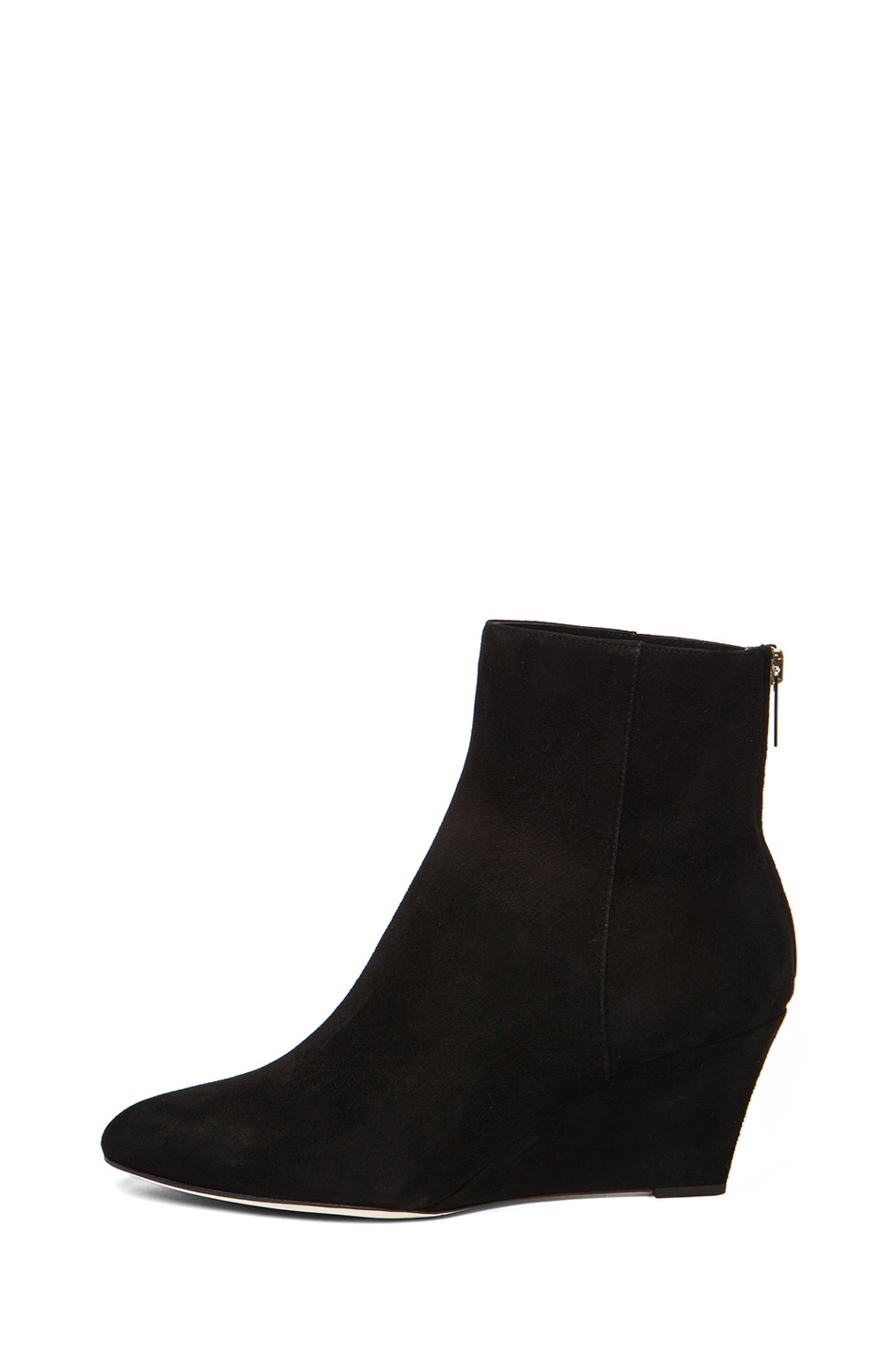 Image 1 of Jimmy Choo Mermaid Suede Wedge Ankle Boots in Black