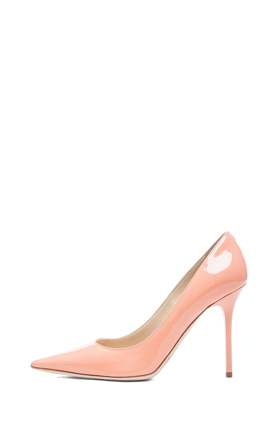 Image 1 of Jimmy Choo Abel Pointed Pumps in Grapefruit