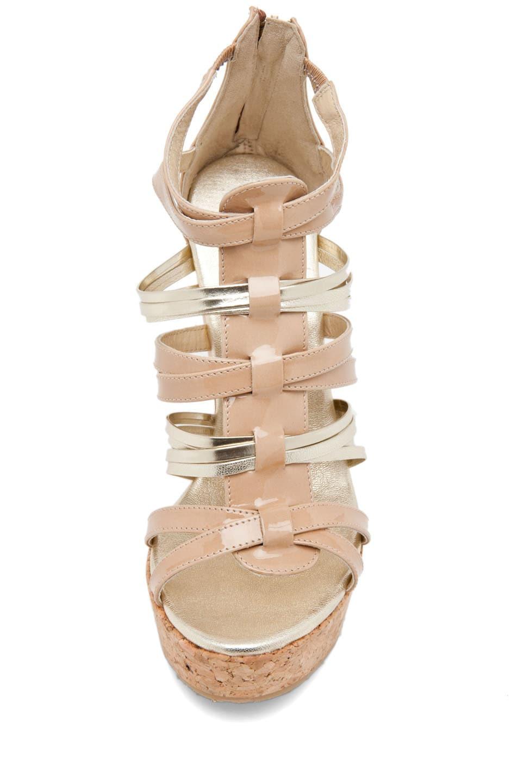 Image 4 of Jimmy Choo Pekabo Cork Wedge Sandal in Nude
