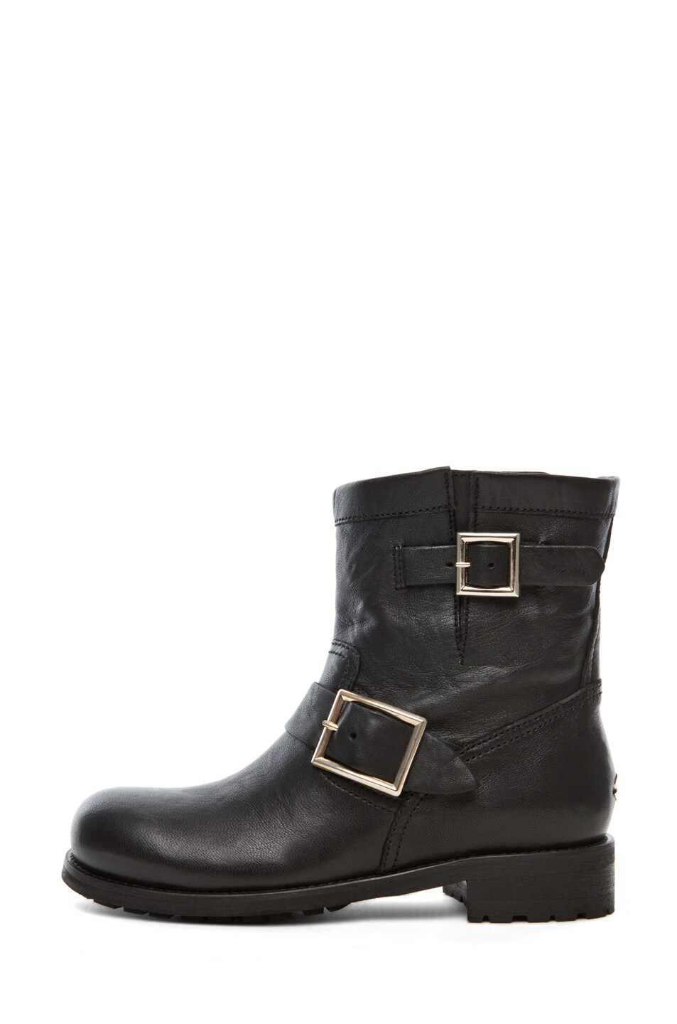 Image 1 of Jimmy Choo Youth Low Biker Boot in Black