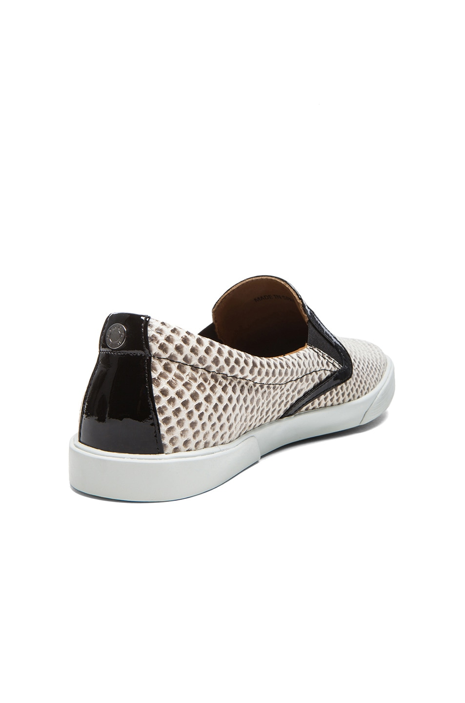 Image 3 of Jimmy Choo Demi Embossed Leather Slip-Ons in Natural