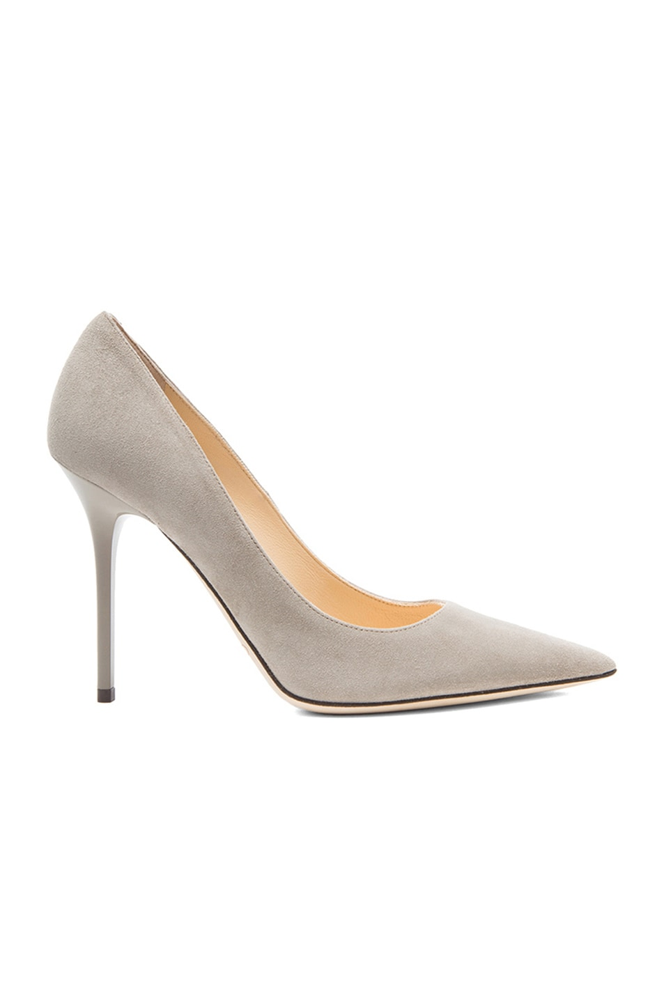 Image 1 of Jimmy Choo Abel Pointed Suede Pumps in Pebble